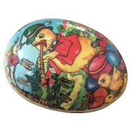 Vintage Easter egg candy container
