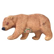West German flocked bear 1950's 1960's
