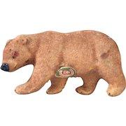 West German flocked bear 1950's 1960's