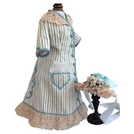 Day dress and hat for German lady doll