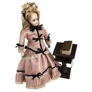 "Complete bible and lectern suitable for dolls vignette 5 1/2"" tall"