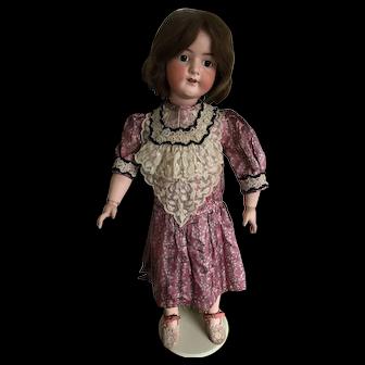 "Vintage dolls dress for 32"" doll in antique silk"