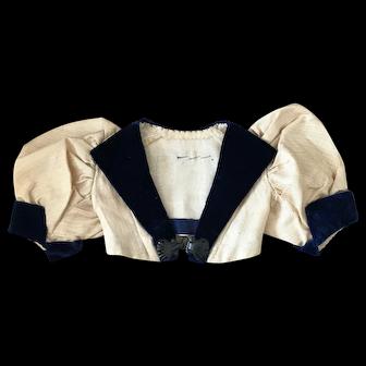 Antique handmade jacket for Bebe or large poupee