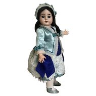 """French Bebe costume and bonnet 18"""""""