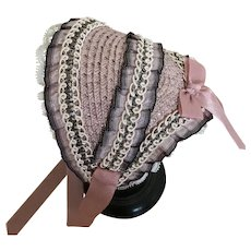 Dusty pink Fanchon for French poupee