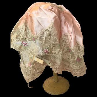 Early 1900's ladies boudoir night cap