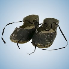 Antique leather doll shoes 8