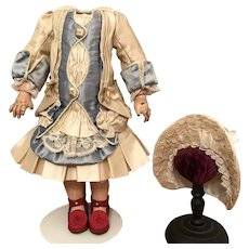 """Gorgeous silk costume and bonnet for 12"""" body"""