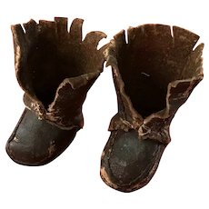 Tiny antique leather boots