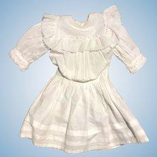 Vintage / antique hand stitched white lawn Bebe dress