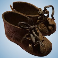 Light Brown soft leather shoes for German doll