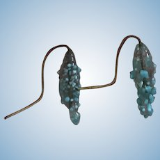 Antique blue glass earrings for bebes #13