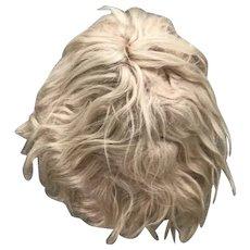 "Antique / vintage blond mohair wig 15"""