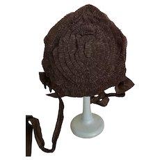 Original antique doll hat