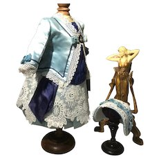 Beautiful costume and hat in shades of blue
