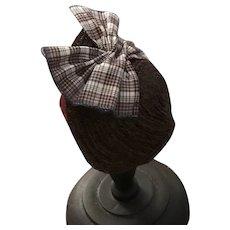 """Handmade straw bonnet in brown - Anna 5"""""""