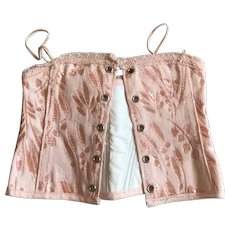 """French Bebe pink corset """"A la Sirene"""" Paris"""