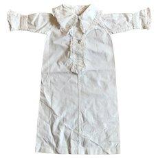 "Antique white cotton nightdress for 17-18""poupee"