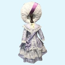 Lavender blue French style costume and hat