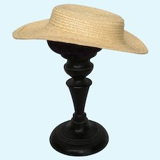 """Adelaide  8"""" - Huret style handmade straw hat for you to decorate"""