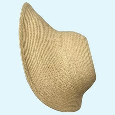 """Large Karen 12"""" - handmade straw hat ready for you to decorate"""