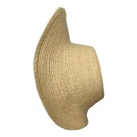 """Paulette 11-12"""" - handmade straw bonnet ready for you to decorate"""