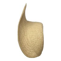 """Large Michelle 12-14""""- handmade straw hat ready for you to decorate"""