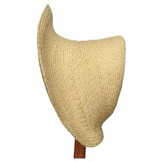 """Large Maria 13-14"""" - handmade straw bonnet ready for you to decorate"""