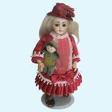 Antique / vintage tiny crochet doll