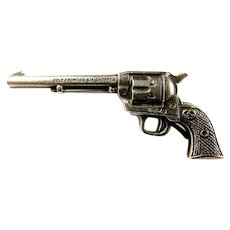 Colt Company Frontier Six Shooter Advertising Miniature Gun Dealer/Premium Pin Sterling ca. 1930's