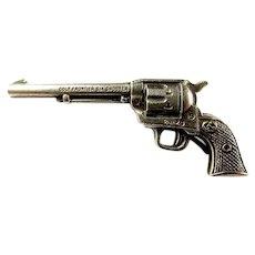 Colt Company Frontier Six Shooter Advertising Miniature Gun Dealer/Premium Pin Sterling ca. 1930's