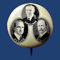 1924 Coolidge Massachusetts Trigate Republican Campaign Political Pinback Button