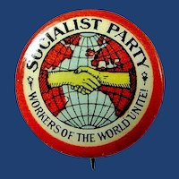 Socialist Party Workers of the World Members Pin ca. 1920's-30's