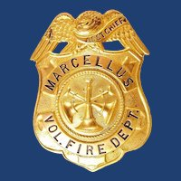 Marcellus, NY Asst. Chief Volunteer Fire Department Members Badge ca. 1930s-40's