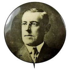 1912 Woodrow Wilson Democratic Presidential Campaign Pinback Button 1-1/4""