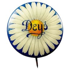 Dey's Dey Brothers & Company Department Store Syracuse, NY Advertising Pinback Button ca. 1896-1900's
