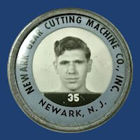 WWII Newark Gear Cutting Machine Co. Inc. Employees Photo Id Identification Badge