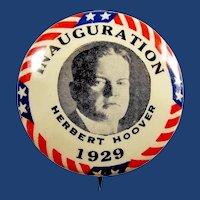 "1929 Herbert Hoover Inauguration Presidential Pinback Button 1-1/4"""