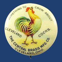 The Cleveland Brass Mfg. Co. Cleveland, Ohio Advertising Pinback Button ca. 1900