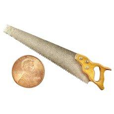 Miniature Tool Hand Saw Hand Made Steel Blade Teeth Really Sharp!
