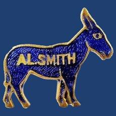 1928 Al Smith Enameled Democratic Presidential Campaign Pinback Button