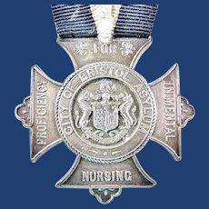 1911 City of Bristol (England) Asylum Medal Award For Proficiency In Mental Nursing Named & Dated Sterling