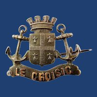WWI Le Croisic France American Doughboy Souvenir Homefront Brooch Pin