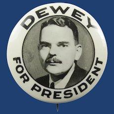 """1944 (Thomas E.) Dewey For President Republican Presidential Campaign Pinback Button 1-1/4"""" scarce"""