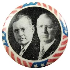 1936 Alfred Landon & Frank Knox Jugate Republican Presidential Campaign Pinback Button