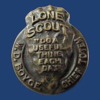 Lone Scout LSA Boy Scouts Membership Badge Pin Brass 1916-1919