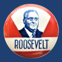 1932-36 Franklin D. Roosevelt Scarce Celluloid Presidential Campaign Pinback Button G.H. Stamp Works