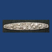 Stieff Sterling Floral Oval Bar Pin