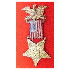GAR Grand Army of the Republic Miniature Membership Medal Circa 1900