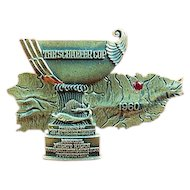 The Schaefer Brewing Co. Annual Puerto Rican International Game Fishing Tournament Silver Award Badge 1960 Sterling HJ